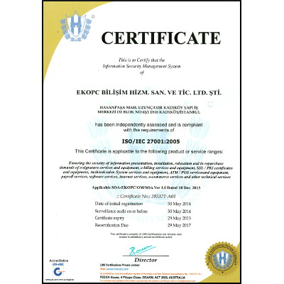 EkoPC is now ISO27001:2005 certified